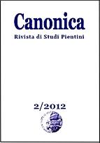 La copertina di Canonica 2