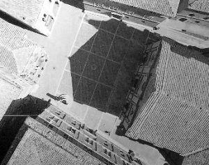 L'ombra ripresa da un pallone frenato. E' visibile l'esatta riproduzione del fenomeno (10 settembre 1985 - Foto PIEPER)