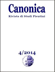 La copertina di Canonica 4